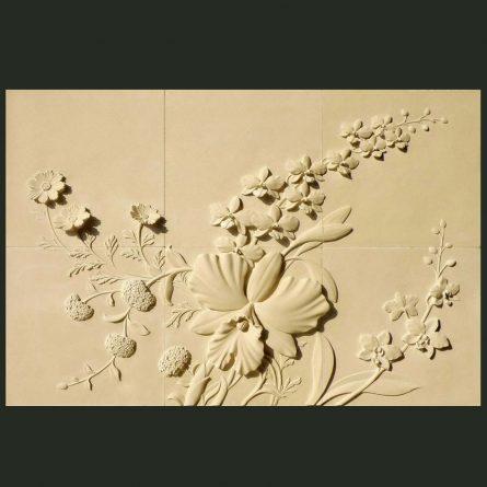 Phù điêu hoa ép